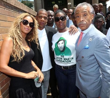 Beyonce Jay Z Trayvon Martin vigil