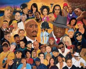 Hip Hop Legends collage