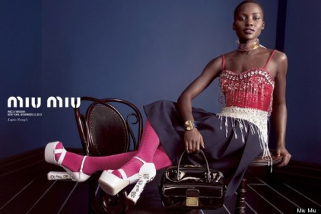 Lupita headlines Mui Mui Spring 2014 collection