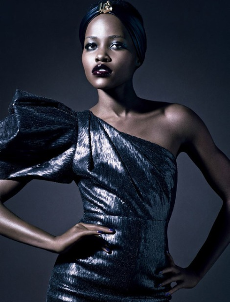 Lupita stars in Vogue Italia. Photographs by Tom Munro