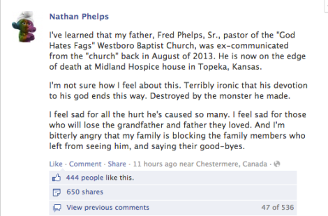 Nathan Phelps FB post