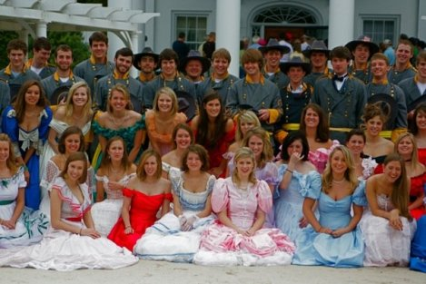 "Kappa Alphas host an annual ""Old South"" party where men dress as Confederate soldiers, and girls in antebellum ball gowns."