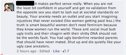 Stupid FB comment 1