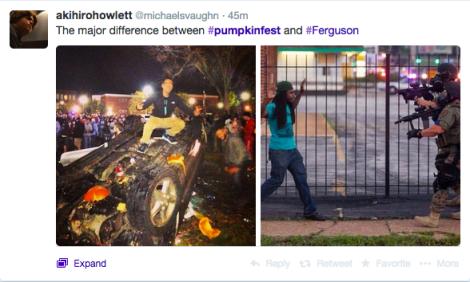 Pumpkin Fest vs. Ferguson
