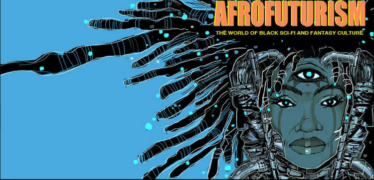 """Cover Art from """"Afrofuturism: The World of Black Sci-Fi and Fantasy Culture"""" by Ytasha L. Womack"""