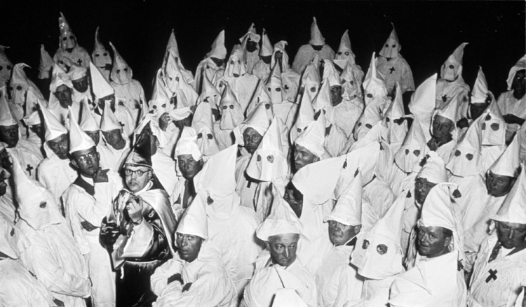 Ku Klux Klan (KKK) meeting, South Carolina, 1951.  © Heirs of W. Eugene Smith